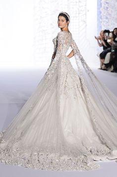 "runwayandbeauty: "" Isabeli Fontana - Finale at Ralph & Russo Spring 2016 Haute Couture. """