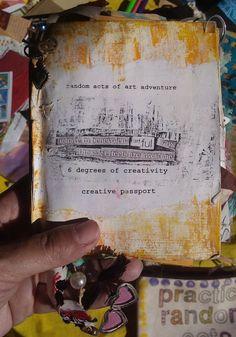 The Random Acts of Art Adventure's Creative Passport in Italy Random Acts, Art Therapy, Passport, Collaboration, Acting, Connection, Creativity, Artsy, Community