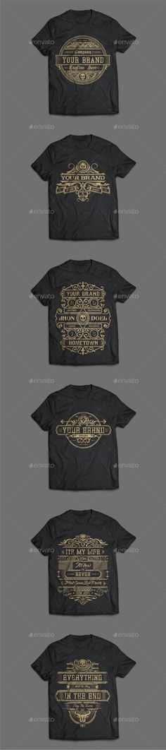 31e6cbc8 Buy 6 T-Shirt Template by sukim on GraphicRiver. Description: Resizable  files Easy to change color Organized layer CMYK color File Included: Ai CS  EPS 10 ...