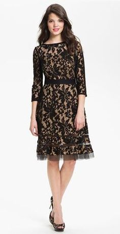 Gorgeous lace dress.