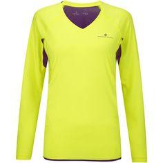 Wiggle Nederland | Ronhill Women's Vizion Long Sleeve Tee - AW14 Hardloopshirts met lange mouwen € 17,60