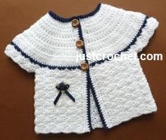 Crochet Manitee Baby Coat This adorable pattern is available in 0-3 Month Size. Enjoy thisCrochet Manitee Baby Coat Pattern by Just Crochet! Click on the Link for the Pattern, if you have any questions, please ask the designer on their site. Thanks http://www.justcrochet.com/matinee-coat-usa.html