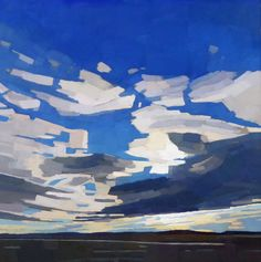 So Blue 26 x 26 oil on linen South Street Gallery Hingham, MA Landscape Art, Landscape Paintings, Sky Painting, Artist Gallery, Gouache, Contemporary Paintings, Art Oil, Painting Inspiration, Photo Art