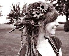 Because when you have dreads flowers become beautiful too