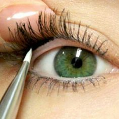 tightlining eyeliner. Perfect.