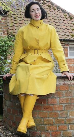 sexy yellow rainwear