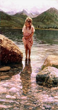 Steve Hanks 'Nature's Beauty' watercolor 2000 by Plum leaves, via Flickr