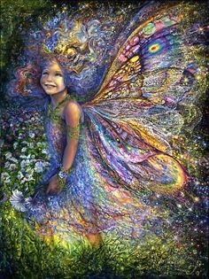 "Josephine Wall ""The Forest Fairy"" acrylic."