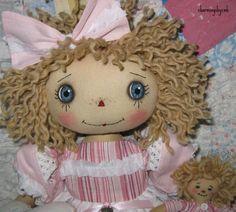 Primitive Folk Art Raggedy Ann Love Matters Annie with 4 inch Anniel | eBay