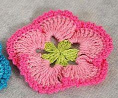 Fleurs au crochet - Le blog de monde-creatif avec diagramme