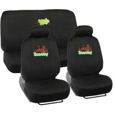Scooby Doo Auto Car Truck SUV Vehicle Universal Fit Front Bucket Seat Covers and Rear Bench Seat Cover and headrest covers - Seat Cover Combo Set Bucket Seat Covers, Golf Cart Seat Covers, Truck Seat Covers, Bench Seat Covers, Car Seats, Scooby Doo Images, Scooby Doo Pictures, Princess Car, Scooby Doo Mystery Incorporated