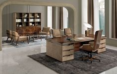 Classic office furniture Avatar by design Umberto Asnago Ceo Office, Office Suite, Luxury Furniture, Modern Furniture, Furniture Design, Furniture Manufacturers, Furniture Companies, Classic Office Furniture, Modern Office Design