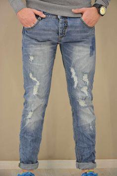 Aνδρικό παντελόνι ντένιμ με σκισίματα PANT-5024 Παντελόνια τζίν - Jeans & Jeans Denim, Pants, Fashion, Trouser Pants, Moda, Fashion Styles, Women's Pants, Women Pants, Fashion Illustrations