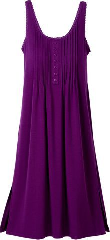 Shelf Bra Lace Gown - Rib Knit Nightgown, Womens Soft Sleep Wear ...