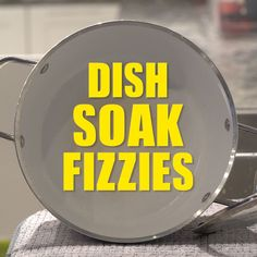 After cooking and eating a meal, dishes are probably the last thing you feel like doing. Plus, you've got better things to do than having to chisel away at that caked-on lasagna. With that being said, I'd like to introduce to you Dish Soak Fizzies! Fill your sink up with