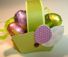 Tuto panier de Pâques Stampin Up, Lunch Box, Paper Crafts, Dimensions, Crafty, Fruit, Birthday, Gifts, Cycle 3