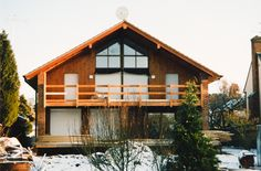 A pair of Swedish style houses built in Berkshire, with Heat Recovery systems and Solar power
