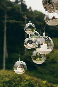 hanging terrarium wedding decor / http://www.himisspuff.com/geometric-terrarium-wedding-ideas/4/