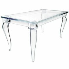 lucite table, gorgeous!
