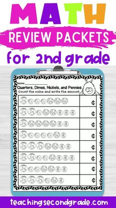 If you are looking for independent work packets for your 1st grade or 2nd grade students, you need to check this resource out. This 1st or 2nd grade math review packet was designed to cover lessons that 1st or 2nd grade students will be working on. These are great for practice on topics like two digit addition and subtraction, counting money, odd or even, and more. #2ndgradeactivities #secondgrademath #secondgradeactivities #mathworksheetsforsecondgrade 2nd Grade Activities, 2nd Grade Math Worksheets, Literacy Worksheets, Money Worksheets, Math Resources, Teaching Second Grade, Second Grade Math, Addition And Subtraction Worksheets, Multiplication Chart