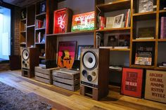 Hi Fi & art in home of graphic artist...