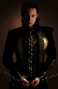 Tom Hiddleston as #Loki | Chained Pet by JessHavok on deviantART -- Why do people do these things to me?