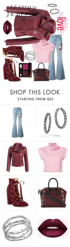 """Cranberry Leather Jacket"" by mdfletch ❤ liked on Polyvore featuring Gucci, John Hardy, daniel patrick, Daya, Givenchy, Links of London, Tom Ford and leatherjackets"