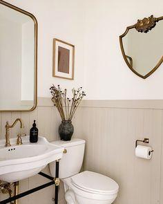 Boho Bathroom, Bathroom Renos, Bathroom Renovations, Small Bathroom, Bathroom Vintage, Bathroom Makeovers, Washroom, Bathroom Inspiration, Home Decor Inspiration