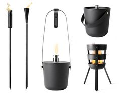 Fire torches and buckets for your garden by Menu