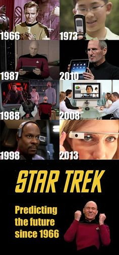 Star Trek - Predicting the future of technology since 1966!