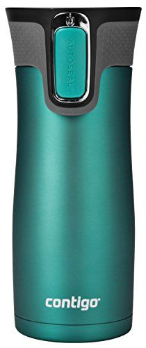 Contigo AUTOSEAL West Loop Vacuum Insulated Stainless Steel Travel Mug with Easy-Clean Lid, 16oz, Biscay Bay. For product & price info go to:  https://all4hiking.com/products/contigo-autoseal-west-loop-vacuum-insulated-stainless-steel-travel-mug-with-easy-clean-lid-16oz-biscay-bay/