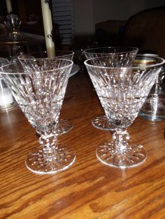 Waterford Crystal goblets...