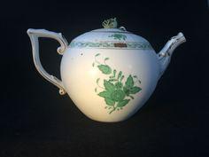 Antique Herend tee kanne - teapot Apponyi Grun