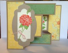 Tri-shutter swap card - open by smithr66 - Cards and Paper Crafts at Splitcoaststampers