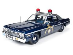 Amazon.com: 1975 Dodge Monaco Pursuit Nevada State Police Highway Patrol Limited to 2000pc Worldwide 1/18 by Autoworld AMM1009: Toys & Games