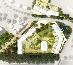 S333 Architecture + Urbanism - Kings Park, Site Plan.  I like the deliberate use of colour to identify new and old!