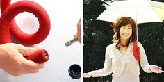 Umbrella-Shoulder-Holder Japanese Inventions, Cool Inventions, Cool Umbrellas, Feather Painting, Feather Design, Find Furniture, Cool Items, Innovation Design, Design Trends