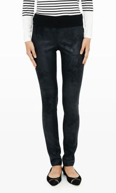Tasha Faux-Suede Legging - Club Monaco Leggings - Club Monaco