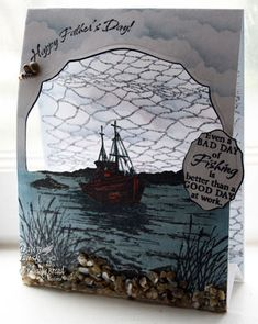 Stamps - Our Daily Bread Designs The Mighty Sea, The Waves on the Sea, Fishing Net Background