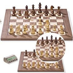 Elegant A Traditional Handcrafted Solid Wooden Chess Set. Ebonised And Triple  Weighted. A Testimony To The Skill Of The Craftspeople Who Have Crafted  This U2026