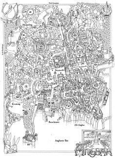 Angbar, Stadtplan