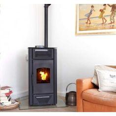 De K-Stove 8018 is een hydro #pelletkachel wat inhoudt dat u deze kunt aansluiten op uw CV, en verwarmt ruimtes tot een oppervlakte van 120m² tot 180m². De K-Stove 8012 heeft een vermogen van 3.6 tot 18 kW. Standaard wordt deze pelletkachel ook uitgevoerd met een afstandsbediening voor optimaal gebruiksgemak. #Fireplace #Fireplaces
