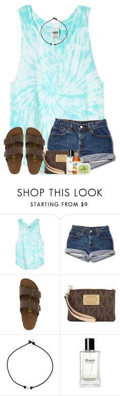 """So ready for my Motocross race this weekend!"" by preppyandsouthern17 ❤ liked on Polyvore featuring Birkenstock, MICHAEL Michael Kors and Bobbi Brown Cosmetics"