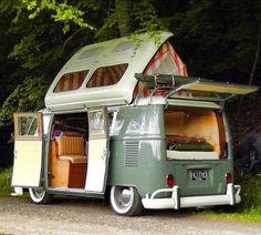 VW Camper Van (VW Camper Van) design ideas and photos Kombi Trailer, Vw Caravan, Kombi Motorhome, Campervan, Kombi Camper, Vw Camper Vans, Airstream Campers, Camper Trailers, Travel Trailers
