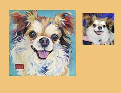 """Mr Tibbs"" the laughing dog!  Color Dog Portraits by Sarah Gayle Carter."