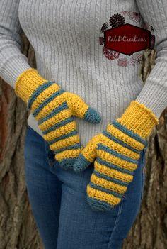 Star Mittens By Kati Donahue - Free Crochet Pattern - (ravelry)