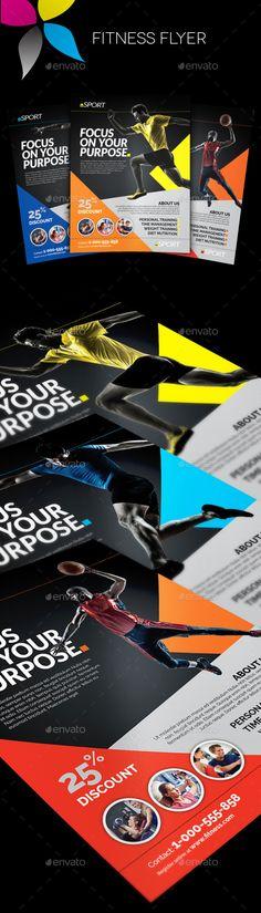 Fitness Flyer Template #design Download: http://graphicriver.net/item/fitness-flyer/12450827?ref=ksioks