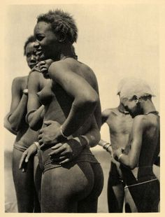 nuer girls sudan 1930 (hugo bernatzik)