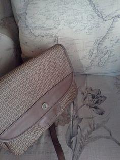 My great find #vintagefendi #loveit♥ next to my #mapofAfrica cushion♥