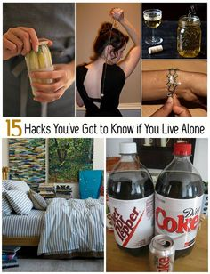 Useful Life Hacks for People Living Alone... Or when hubby is just gone for the evening or week or whatever. Useful Life Hacks, Life Hacks